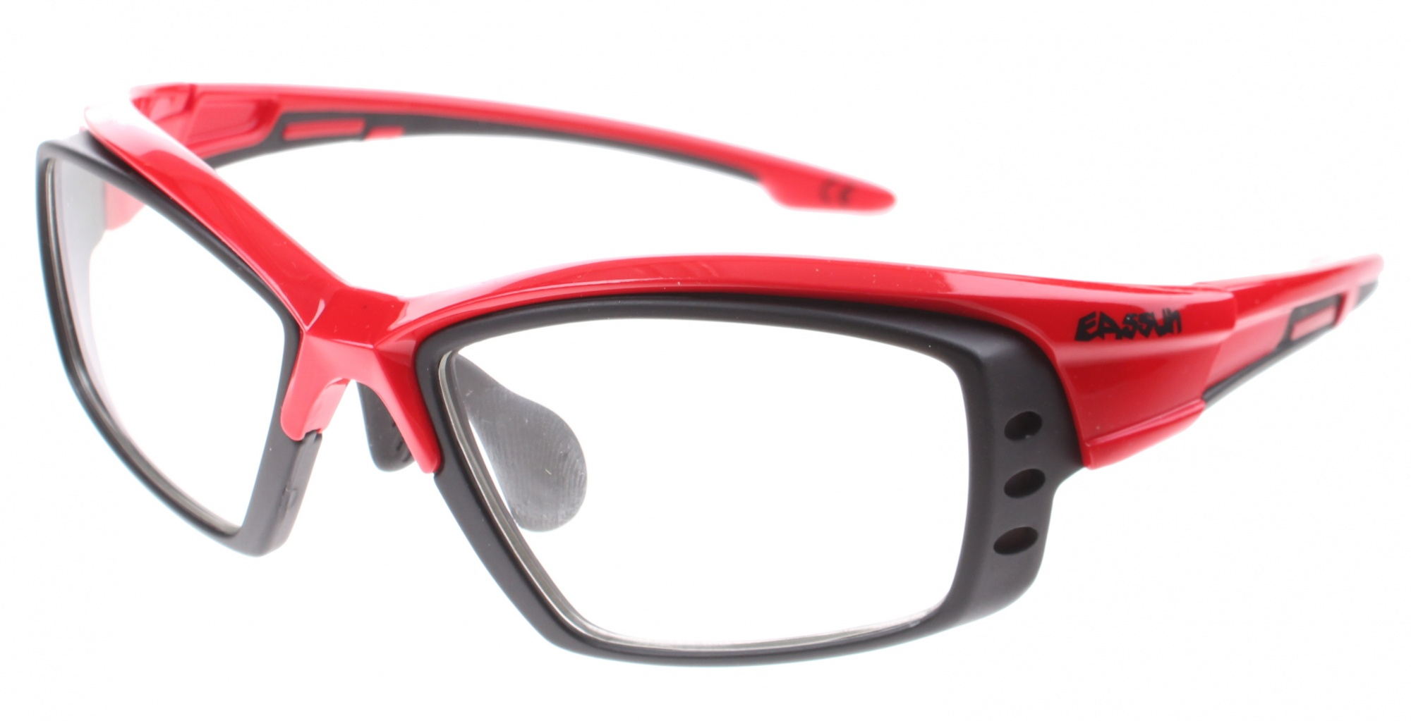 2ab549bbf5 Eassun bicycle glasses Pro RX Montura red   black clear glass. Enlarge