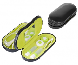 Balvi lenses/glasses case 2-in-1 16.4 cm black/green 5-piece