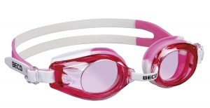 Beco swimming goggles Riminipolycarbonate girls pink/white