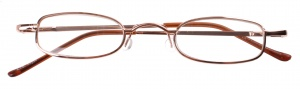 Dunlop reading glasses gold unisex