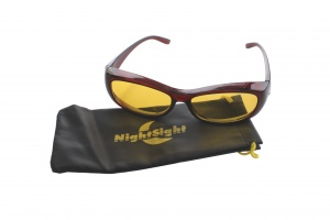 Euro Optics overnight sleep glasses brown with cover