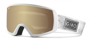 Giro ski glasses Gaze Silver Shimmer Amber Gold ladies white