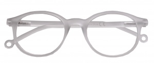 H2Optics lunettes de lecture Clubmasterunisexe transparent force +1,00