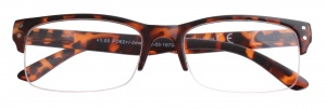 H2Optics reading glasses panther semi-rimless brown