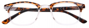 H2Optics reading glasses unisex brown/transparent