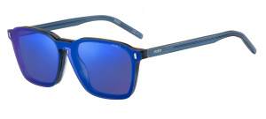 Hugo Boss zonnebril 1110/CS clip-on heren cat. 3 wayfarer blauw