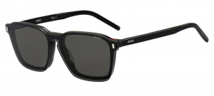 Hugo Boss zonnebril 1110/CS clip-on heren cat. 3 wayfarer zwart