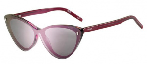 Hugo Boss zonnebril 1111/CS clip-on dames cat-eye rood/roze