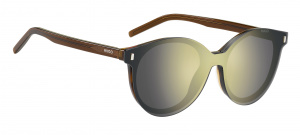 Hugo Boss zonnebril clip-on dames cat. 3 wayfarer bruin/groen
