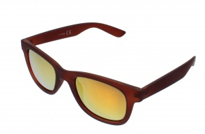Kost sunglasses unisex brown with yellow / orange lens (16-080B)
