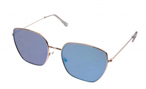 Kost sunglasses unisex gold with blue lens (16-042)