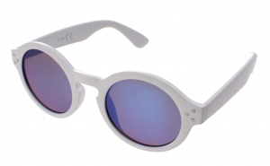 Kost sunglasses unisex white with blue mirror lens (16-169)