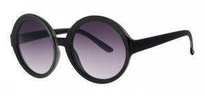 Level One sunglasses Femmeladies cat. 3 round black (L6235)