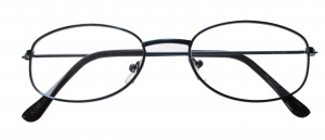 Lifetime-Vision reading glasses blue unisex oval
