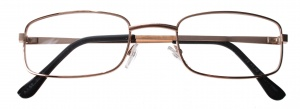 Lifetime-Vision reading glasses gold unisex rectangular