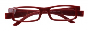 Lifetime-Vision reading glasses with LED lights and case unisex bordeaux