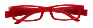 Lifetime-Vision reading glasses with LED lights and case unisex red