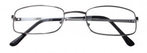 Lifetime-Vision reading glasses silver unisex rectangular
