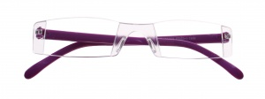 Lifetime-Vision reading glasses without frame unisex purple