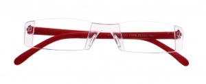 Lifetime-Vision reading glasses without frame unisex red