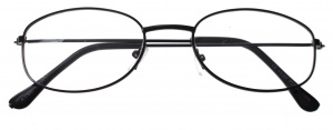 Lifetime-Vision reading glasses black unisex oval