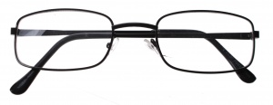 Lifetime-Vision reading glasses black unisex rectangular
