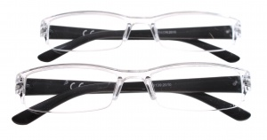 Lifetime-Vision Reading glasses two pieces unisex strength +2.00-S