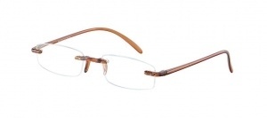 LookOfar reading glasses Memory brown (le-0103D)