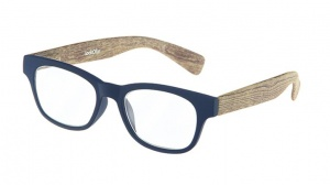 LookOfar reading glasses Wood blue/brown (le-0166B)