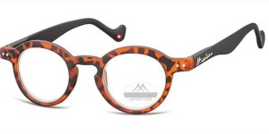 Montana lunettes de lecture tortue ronde ronde orange force +2.00 (box69)