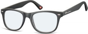 Montana reading glasses unisex wayfarer black (blfbox67)