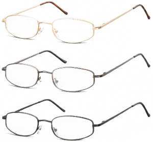 Montana reading glasses set 3PM50M steel 3 pieces