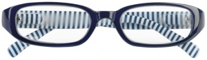 Moses Libri_x reading glasses stripes blue/white
