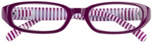 Moses Libri_x reading glasses stripes pink/white