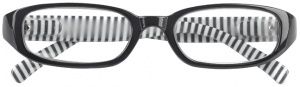 Moses Libri_x reading glasses stripes black/white
