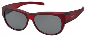 Polaroid sunglasses 9004/Smrd/Y2 unisex oval red/grey