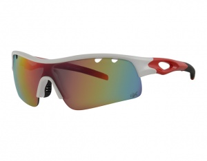 Revex Sport sports glasses white/red/black with anti-UV paint Polrx7035