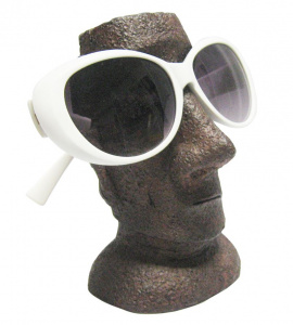 Rotary Hero eyewear holder Moai 14 x 9 x 8 cm polyresin brown