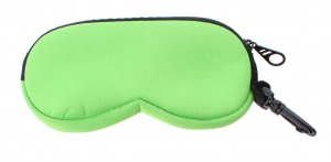 TOM glasses case 16 x 8 cm green