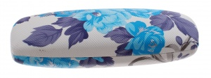 TOM glasses case 16 x 5 cm ladies white / blue