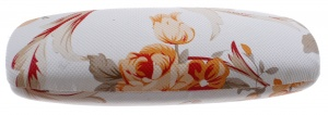 TOM glasses case 16 x 5 cm ladies white / orange