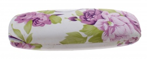 TOM glasses case 16 x 5 cm ladies white / pink