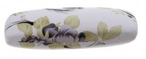 TOM glasses case 16 x 5 cm ladies white / black