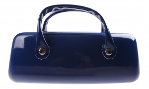 TOM Spectacle case pouch 16 x 6 cm dark blue