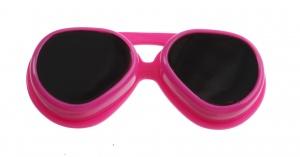 TOM Lenses box of pink sunglasses