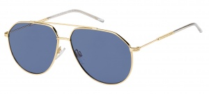 Tommy Hilfiger sunglasses TH1585/S 000/KU unisex gold with blue lens