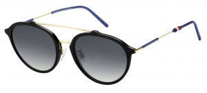 Tommy Hilfiger sunglasses TH1618/S 807/9O unisex black/gold/blue