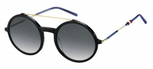 Tommy Hilfiger sunglasses TH1644/S 807/9O women black/gold/blue