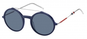Tommy Hilfiger sunglasses TH1644/S PJP/KU ladies blue/silver/red