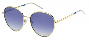 Tommy Hilfiger sunglasses TH1649/S LKS/08 women's gold with blue lens